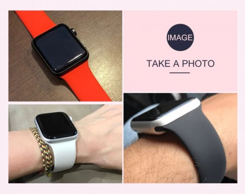 STA-001 Rubber TPU Tali Strap Jam Apple iWatch 1/2/3/4 38mm - 40mm & 42mm - 44mm Watch Band