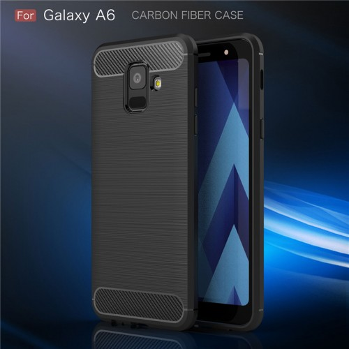 Samsung A6 2018 - Rugged FS / Delkin - Carbon Fibre Case Slim Rugged Armor ShockProof / Rubber