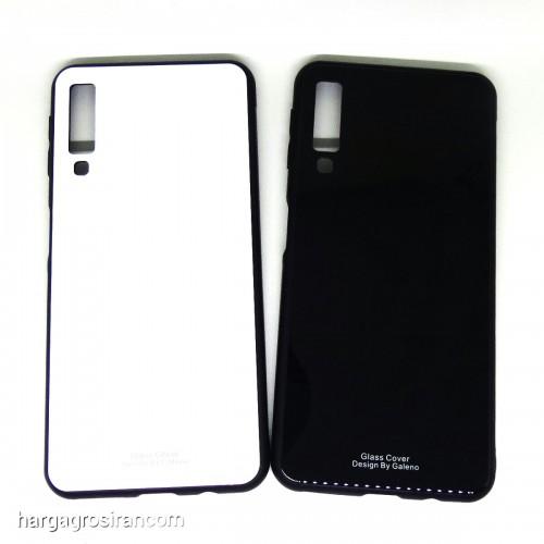 Samsung A7 2018 - Glass Case / Design Bahan Tempered Full Cover / Lebih Elegan dan Simple