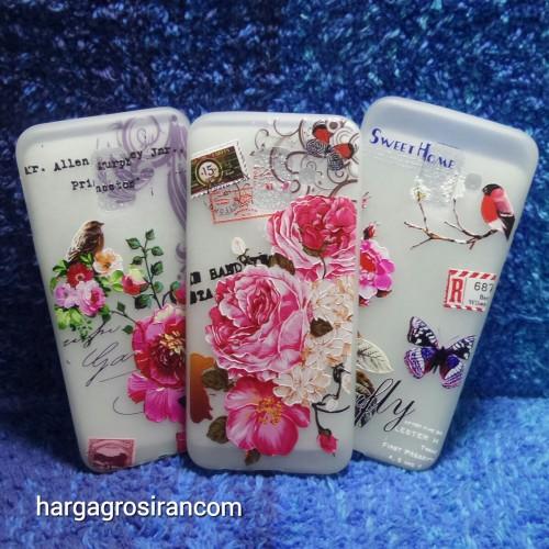 Samsung Galaxy A6 2018 Sakura Case Motif Bunga Bahan Softshell - Fashion Flower Back Cover