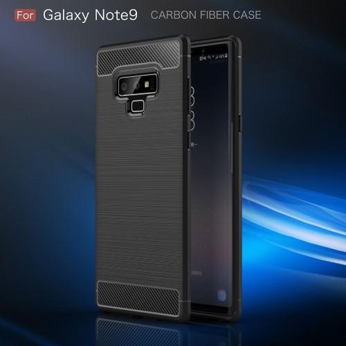 Samsung Galaxy Note 9 Rugged FS / Delkin - Carbon Fibre Case Slim Rugged Armor ShockProof / Rubber