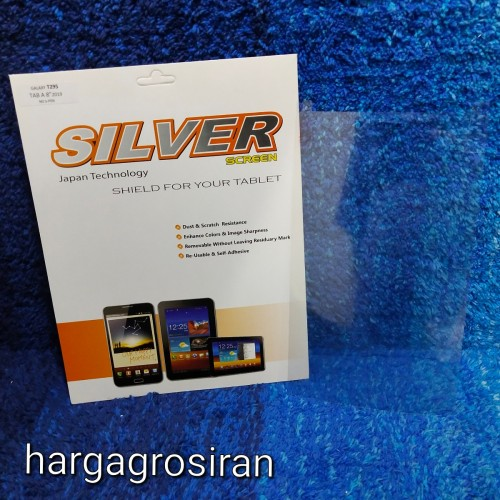 PLY-002 Silver Samsung Galaxy Tab A 8 INCH LITE 2019 T295 Anti Gores Bahan Plastik Clear Bening / Glare Anti Minyak Kualitas Bagus