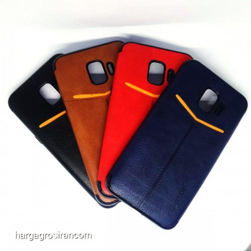 Samsung J2 Core - Elegan Leather Back Case - Silikon Kulit Design Simple dan Stylish Cover Ver.5