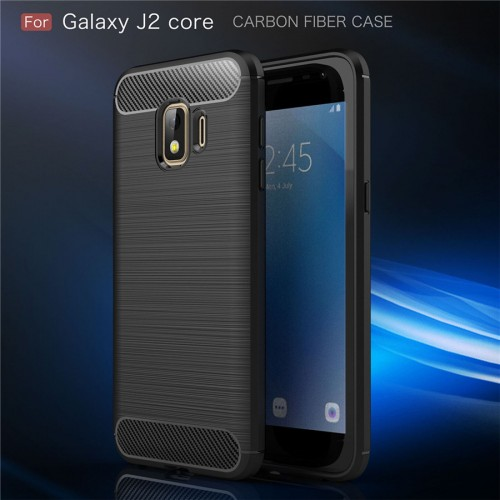 Samsung J2 Core - Rugged FS / Delkin - Carbon Fibre Case Slim Rugged Armor ShockProof / Rubber