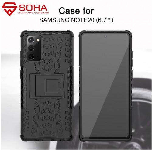 Samsung Note 20 aja Case Bisa Melindung Kamera Dazzle Rugged Armor Stand / Hybrid Shockproof Cover