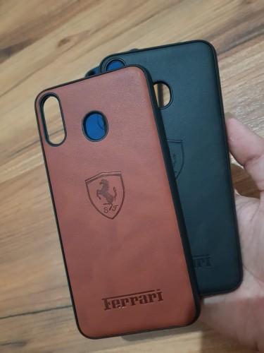 Vivo V15 Aja Kulit Ferrari Design Simple dan Stylish - Leather Back Case Cover Ver.7