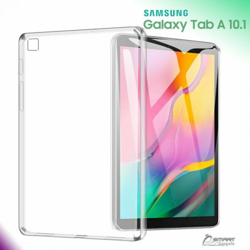 Samsung Tab A 10 Inch 2019 / T515 - Silikon Clear TPU Cover Shock Absorption Bening Tablet Back Case
