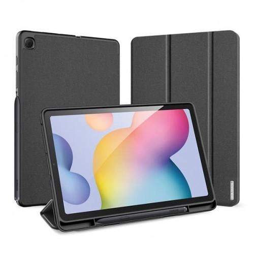 Samsung Tab S6 Lite / P610 / P615 Sarung Original Dux Ducis Leather Flip Cover Standing Case Domo Series Ada tempat Slot Pencil