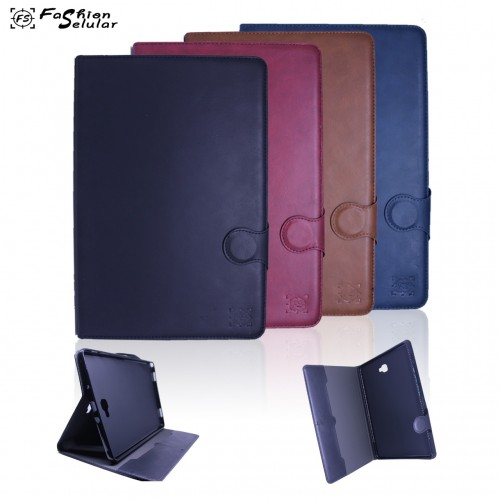 Samsung Tab A 10 inch 2018 / T590 Sarung Tablet Kulit FS Leather Case Blue Moon Pinggiran Jahitan
