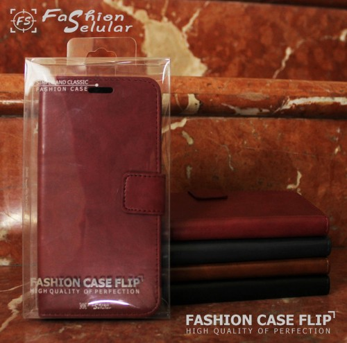 Xiaomi Redmi Note 8 Pro - Sarung Kulit FS Leather Case Blue Moon Ada Kancing