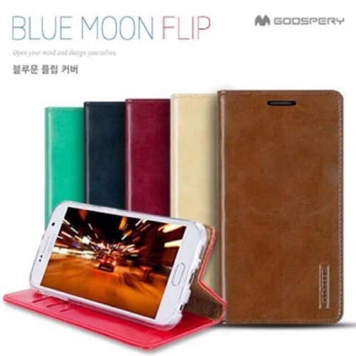 Sarung Mercury Kulit Samsung A50 - Blue Moon Flip / Leather Case / Dompet - STRPT