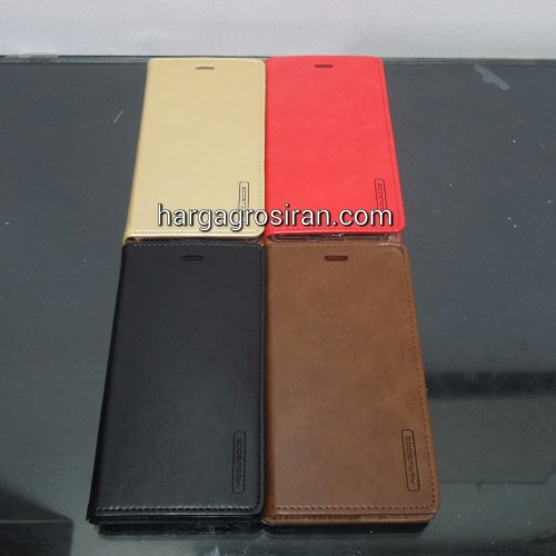 Sarung Mercury Kulit Xiaomi MI5X / A1 - Blue Moon Flip / Leather Case / Dompet - STRPT