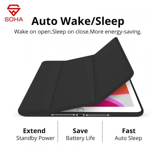 SCI-002 New Ipad 7 10.2 Inch 2019 Sarung Leather Case Smart Cover Model Lipat 3 Design Model Original Apple
