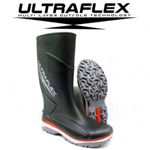 Sepatu UltraFlex 2018 Safety Boot Karet Original Asli AP Boots Karet Motor Outdoor Proyek Kebun Perkebunan Anti Air Waterproof