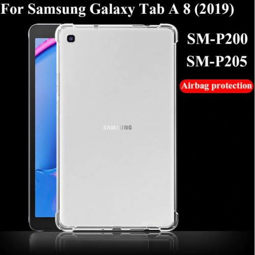 SBT-002 Samsung Tab A 8 Inch 2019 P205 Anti Crack Silikon Bening Clear Shock Absorption Tablet Back STRDY