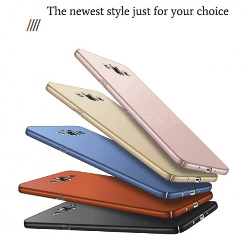 Samsung Galaxy J7 Duo - Hardcase FS Slim Full Cover - Eco Case / Back Cover / Baby Skin Protection