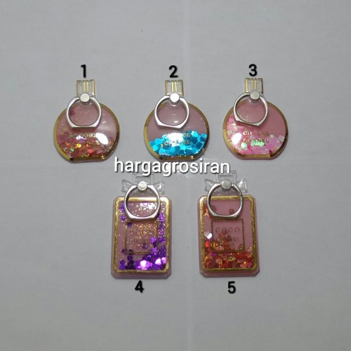 Standing Ring Motif Parfum + Glitter Air / Iring Holder Hp