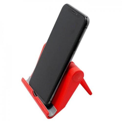 HDR-001 Merah Standing HP Universal / Docking HP / Holder Meja Bisa Di lipat putar 270° S059