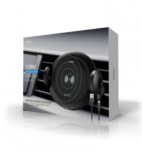Star Lord Series Wireless Charge Car Mount / Holder Mobil Otomatis Lock Bisa Dashboard dan AC Totu