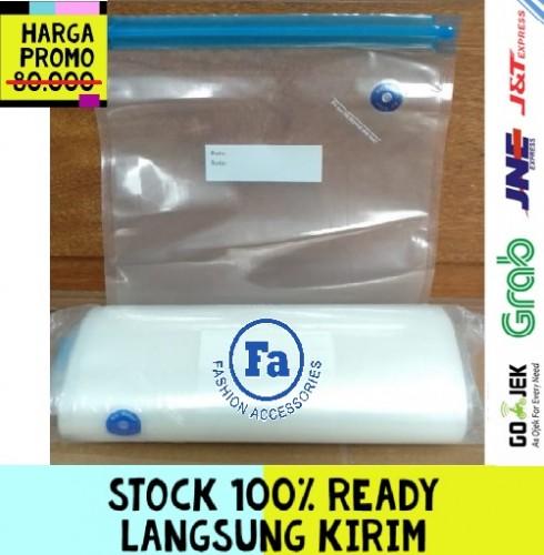 4 Pcs Kantong Vacuum Sealer Dengan Segel Untuk Makanan 4 Ukuran STRDY