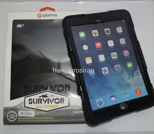 Survivor Case - Ipad 6 / Ipad Air 2 Merek Griffin / Back / Cover / Anti Banting / Kokoh - STGRS