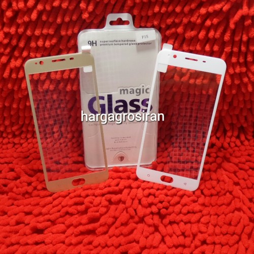 Tempered Glass Oppo F1S / A59 Full Layar 3D / Curved / Anti Gores Kaca