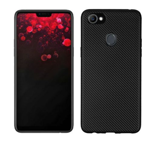 TPU Carbon Oppo F7 / Softshell / Cover / Sillicone Casing Black Ver.3