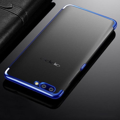 TPU Chrome Oppo A3S  - Softshell / Silikon Case / Back Case Cover / Ultra thin