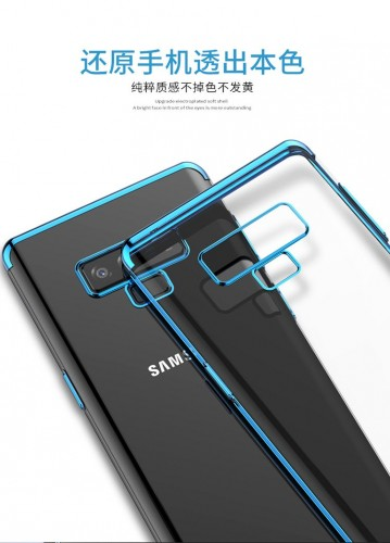 TPU Chrome Samsung Note 9  - Softshell / Silikon Case / Back Case Cover / Ultra thin