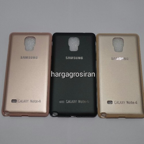 TPU FS Metal Samsung Galaxy Note 4 - Back Cover / Case Bahan Silikon / Softshell