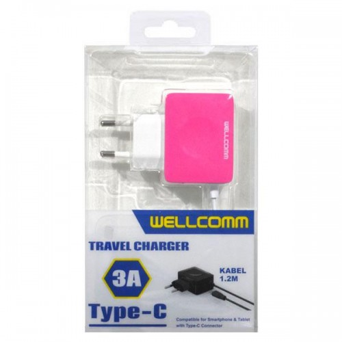 TRAVEL CHARGER WELLCOMM TYPE C 3A