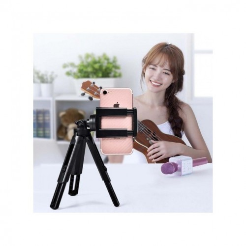 TRP-021 Mini Tripod HP Phone Holder U Posisi 360 Derajat Bisa tinggiin Extendeble Selfie Live Streaming