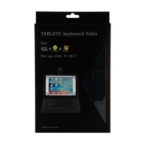 SKB-001 2 in 1 Wireless Bluetooth Folio Case Plus Sarung Keyboard Universal Tablet Ukuran 9 - 10 Inch Leather Case TY3310