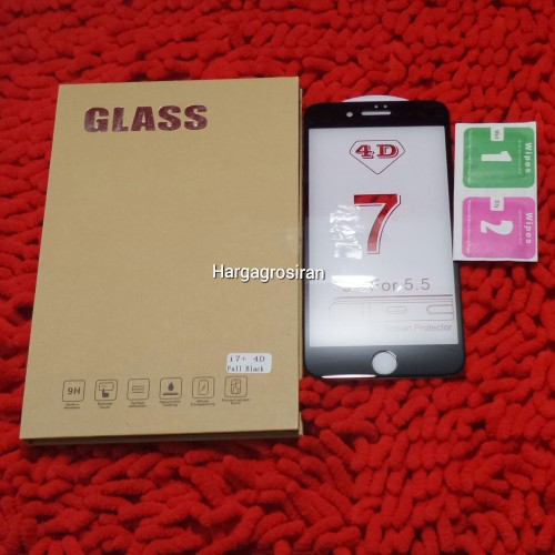 Tempered Glass FS Iphone 7 Plus / 4D / Full Body / Anti Gores Kaca