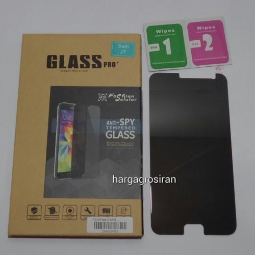 Tempered Glass FS SPY Samsung Galaxy J7 2015 / J7 Core / Anti Gores Kaca Private TIDAK ADA GARANSI P