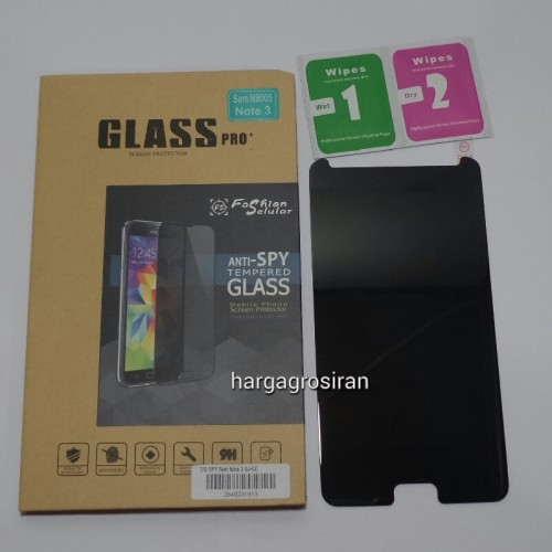 Tempered Glass FS SPY Samsung Galaxy Note 3 / Anti Gores Kaca Private TIDAK ADA GARANSI PECAH