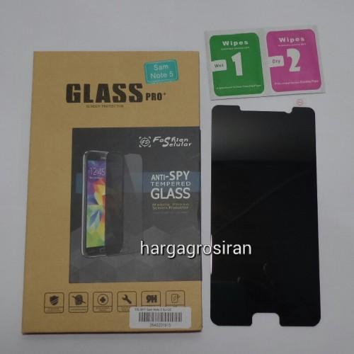 Tempered Glass FS SPY Samsung Galaxy Note 5 / Anti Gores Kaca Private TIDAK ADA GARANSI PECAH