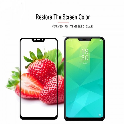 Tempered Glass Oppo Realme 2 / Full Body / Full Lem Anti Gores Kaca