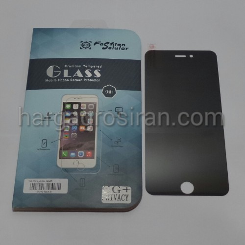Tempered Glass FS SPY Iphone 6 Plus - 5.5 / Anti Gores Kaca Private TIDAK ADA GARANSI PECAH