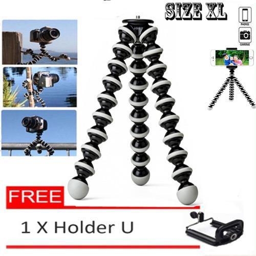 Tripod Cumi Flexible Ukuran M For Smartphone / Digital Camera Sambung ke Tongsis