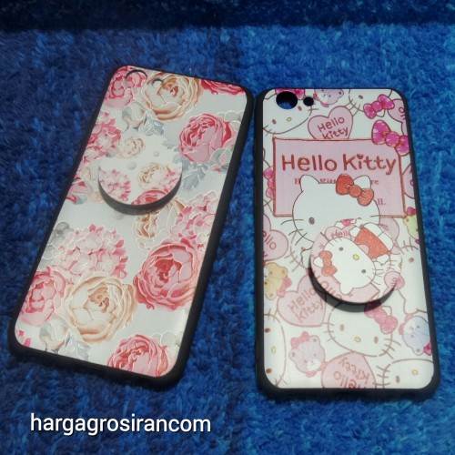 Vivo Y71 Case Motif Free Pop Socket Bahan Silikon / Softshell / Back Cover Ver.7