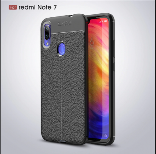 Xiaomi Note 7 - Case Kulit Auto Focus - Softshell / Silikon / Cover / Softcase