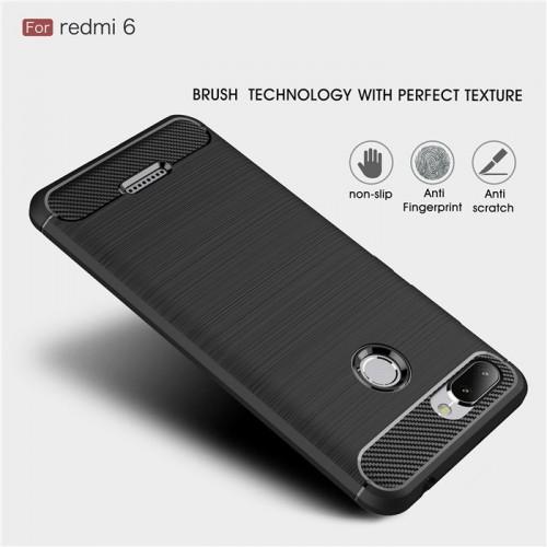Xiaomi Redmi 6 - Rugged FS Delkin - Carbon Fibre Case Slim Rugged Armor ShockProof / Rubber
