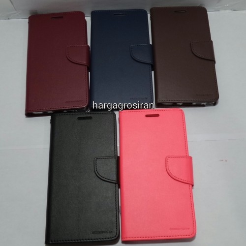 Sarung Mercury Kulit Samsung Galaxy Note 5 - Bravo Diary / Leather Case / Dompet