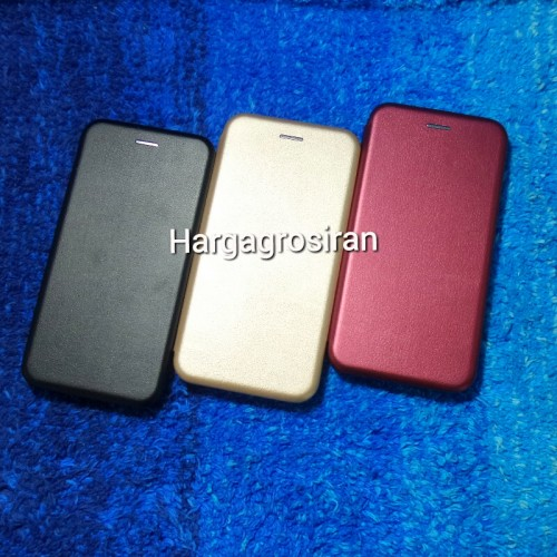 Sarung Kulit Samsung Galaxy A8 Plus 2018 / Flip / Leather Case