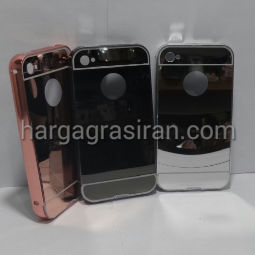 Bumper Mirror Iphone 4 / 4s / Bumper Kaca Plus Tutup Cover Belakang