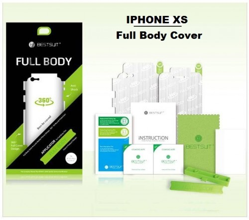 Anti Gores Iphone XS - Full Set 2 in 1 / Full Body Curved / Depan dan Belakang 0.2 mm