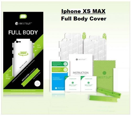 Anti Gores Iphone XS Max - Full Set 2 in 1 / Full Body Curved / Depan dan Belakang 0.2 mm