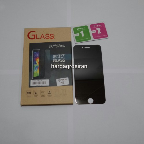 Tempered Glass FS SPY Iphone 7G / Iphone 8 4.7 Inch Anti Gores Kaca Private TIDAK ADA GARANSI PECAH