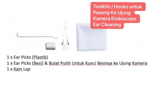 AS-01 ToolKit Ear Cleaning Hooks Ear Picks / Annulaire Ear Spoon For Cable Endoscope Camera 5.5mm